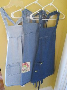 Recycled Denim Shirt Full Apron - Your Choice