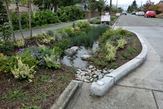 Green creating is the apply of producing constructions and applying guidelines which get earth liable and resource-efficient. Urban Landscape, Landscape Design, Residential Building Design, Wetland Park, Green Street, Water Management, Rain Garden, Landscaping With Rocks, Sustainable Design