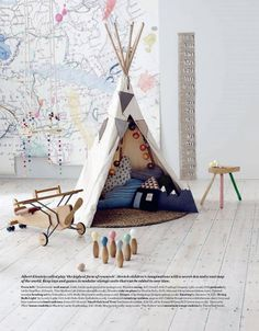 Elle Deco UK - modern children's rooms - styling Alex Kristal  photo Jake Curtis