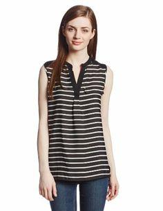 Calvin Klein Women's Stripe Mixd Media Top, Black/White, Medium Calvin Klein,http://www.amazon.com/dp/B00G36E8TO/ref=cm_sw_r_pi_dp_D3fHtb16TDHNDTVN