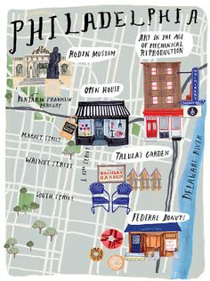 Grace Lee. Philadelphia map for Anthology Magazine Issue No.10, Winter 2013.