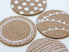 Custom coasters in Ideas for planning, organizing and decorating babies, kids and adults parties
