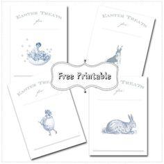 Blog My Little Party - Ideas e Inspiración para Fiestas: Descargables Gratuitos: Bolsas de Pascua Vintage