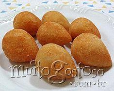 coxinha de galinha - portuguese recipe (written in Portuguese)