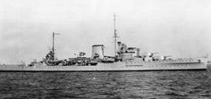 HMS Neptune (20) of the Royal Navy - British Light cruiser of the Leander class. In 1939 she was deployed in the South Atlantic. WW2 B a t t l e H o n o u r s ATLANTIC 1939 - CALABRIA 1940 - MEDITERRANEAN 1940 - BISMARCK Action 1941 - MALTA CONVOYS 1941 sunk in the Med after being struck by 4 mines with only 1 survivor.