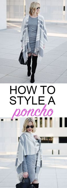 f54bbb9ba easy tips about how to style a poncho with a dress, bodycon dress with a