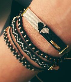 Heart bracelet stackable bracelets bracelets for her unique jewelry bracelets to wear with watch st Bracelets Design, Bead Loom Bracelets, Stackable Bracelets, Macrame Bracelets, Silver Bracelets, Jewelry Bracelets, Jewelry Design, Heart Jewelry, Unique Bracelets