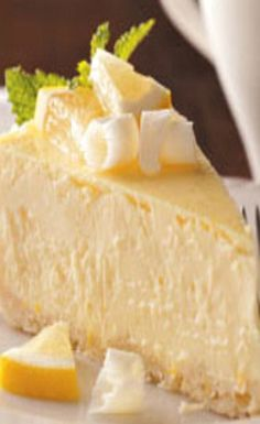 Lemon White Chocolate Cheesecake