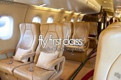 Fly first class. Check!