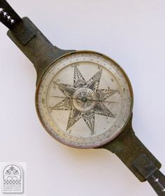 18th century surveyor's compass inscribed JOHN HEILIG FECIT, PENNSYLVANIA, Collection of the Schwenkfelder Library & Heritage Center