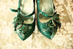 Vintage teal shoes
