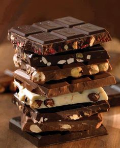 dark #chocolate. milk chocolate. White chocolate. Three very important food groups.