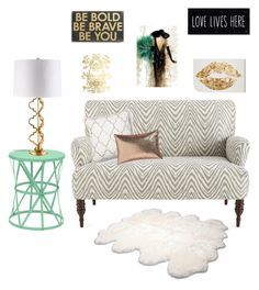 Neutral, light teal, and gold by leopardandbling on Polyvore featuring polyvore, interior, interiors, interior design, home, home decor, interior decorating, John Robshaw, Three Hands, UGG Australia, Leftbank Art, Primitives By Kathy, CB2 and Rifle Paper Co