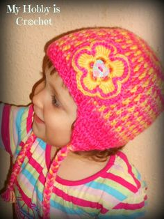 My Hobby Is Crochet: Crochet Earflap Hat Gum Drops