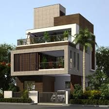 Apartment design exterior beautiful 57 ideas for 2019 apartment is part of House design - Modern Bungalow Exterior, Modern Exterior House Designs, Modern Architecture House, Modern House Design, Roman Architecture, Chinese Architecture, Exterior Design, 3 Storey House Design, Bungalow House Design