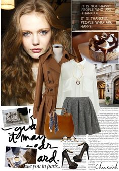 """I just love, love, love brown!"" by hug-voldemort ❤ liked on Polyvore"