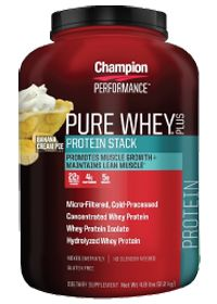 Pure #Whey Plus - Banana #Cream Pie by Champion Nutrition - Buy Pure Whey Plus - #Banana Cream Pie 4.8 Powder at the #vitaminshoppe