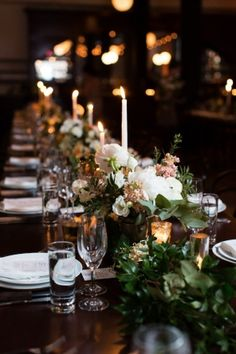 Venue, Wythe Hotel; Flowers, Starling on Bond; Photo: Christine Han Photography - New York Wedding http://caratsandcake.com/SarahandDae