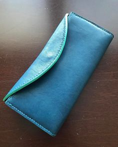 """52 Likes, 2 Comments - Handmade Leather Goods (@prleatherworks) on Instagram: """"Women's clutch style wallet. Magnetic clasp, 4 card slots, dedicated bill slot, zipper pouch for…"""""""