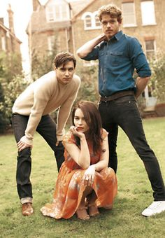 "Harry Lloyd,  Emilia Clarke, and Richard Madden portray the characters of Viserys Targaryen, Daenerys Targaryen, and Robb Stark respectively. photograhed by Chloe Mallett for ""ES"" magazine april 2011......."