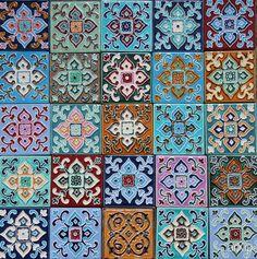 керамическая плитка ручной работы каталог товаров, предмет - плитка интерьерная, дизайнерская | стиль - восточный, марокканский стиль | цвет - узор, полоски, квадратик, горошек, коричневый, бронзовый. Разместил PLAKART ceramics на портале arXip.com