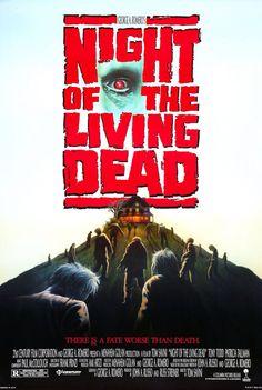 night of the living dead, tom savini, movie poster, horror movies Horror Movie Posters, Best Horror Movies, Classic Horror Movies, Classic Films, Zombie Movies, Scary Movies, Good Movies, Movies Free, Popular Movies