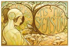 'Tis the Season - Art Nouveau by maichan-art.deviantart.com on @deviantART