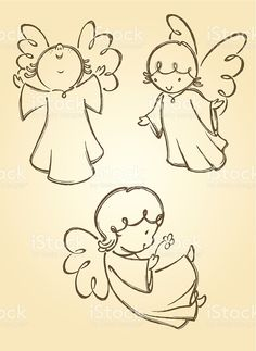 Variation of angel poses. Traced from my hand drawn artwork, properly… Variation of angel poses. Traced from my hand drawn artwork, properly grouped with high resolution jpg. Visit portfolio for More Valentines Series Lightbox Angel Sketch, Angel Drawing, Drawing Hands, Christmas Rock, Christmas Angels, Engel Illustration, Stone Painting, Painting & Drawing, Angel Vector