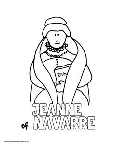 world history coloring pages printables jeanne of navarre