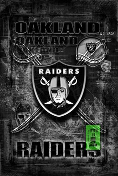 A personal favorite from my Etsy shop https://www.etsy.com/listing/480127366/oakland-raiders-layered-poster-art