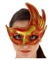 Máscara veneciana acabado en rojo