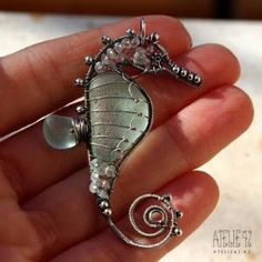 Another Wire Wrapped Sea Horse Tutorial - The Beading Gem's Journal by wanting