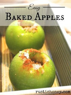 Easy Baked Apples - rustichoney.com - #easy #dessert #recipe #howto
