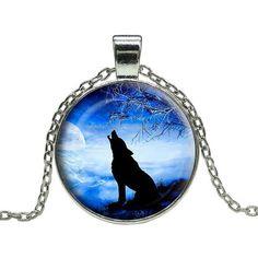 Loner Wolf Howl Pendant