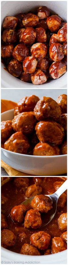 Easy meatballs whipped up in the slow cooker and smothered in zesty BBQ. Dinner or appetizer worthy! Happy week to you! What's your story this week. Are you working? Do you have off? Are you traveling? I've been in Baltimore for the past few days and am back in the kitchen tomorrow. I'm thinking festive cookies …
