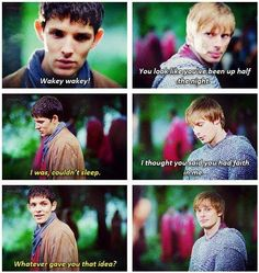 Merlin has faith in Arthur~ and Arthur knows even if Merlin won't admit it~ :3