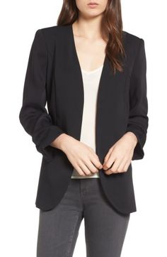 Chelsea28 Chelsea28 Ruched Sleeve Blazer available at #Nordstrom