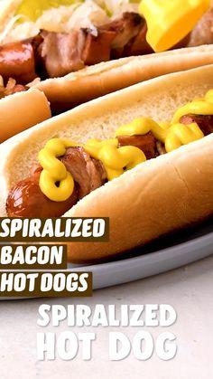 Hot Dog Recipes, Fun Baking Recipes, Cooking Recipes, Cooking Ideas, Grilling Recipes, Pork Recipes, Good Food, Yummy Food, Tasty
