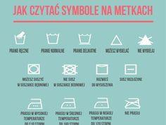 Jak czytać symbole na metkach Self Improvement, Psychology, Boarding Pass, Life Hacks, Infographic, Knowledge, Language, Learning, Diy