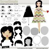 ScrapSimple Embellishment Templates: Art Dolly