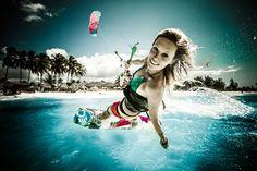kite chick having fun!!