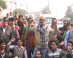 Protest against Theft of laptop In Ghaziabad