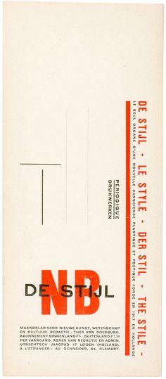 Theo van Doesburg, advertising DeStijl, 1928 Web Design, Book Design, Layout Design, Corporate Style, Corporate Design, Branding Design, Mondrian, Layout Inspiration, Logo Design Inspiration