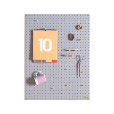 Block's fabulous grey pegboard is the ideal vehicle for your creativity