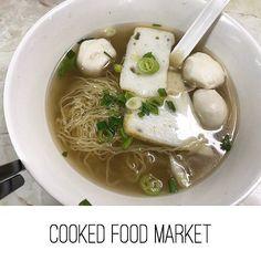 Fish noodle soup at Cooked Food Market / Hong Kong  3.2 of 5  #fish #noodle #soup #onion #cookedfoodmarket #mongkok #hongkong #food #foodporn