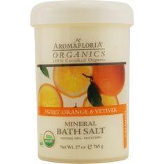ORGANICS aromatherapy   sweet orange & vetiver mineral bath salt