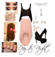 """""""Daay To Nighht"""" by niaax33 ❤ liked on Polyvore featuring Glamorous, Nookie, Giuseppe Zanotti, Forever New, River Island, Charlotte Russe, American Eagle Outfitters, DayToNight and contest"""
