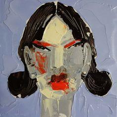 Haerte, (Portrait #0020), 20 x 20 cm, Acryl auf der HDF-Malplatte, 2016