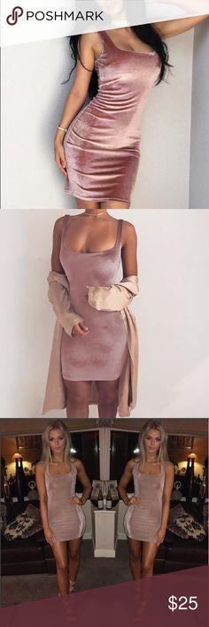 Blush Pink Velvet Bodycon Dress Material:Velvet Color:Blush pink  Tag Size             Bust             Length      S                       82                  81  🎀Offers welcome🎀 🔥20% off 2+ bundles🔥 🚫No trades🚫 Dresses Mini