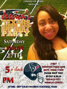 Texans Theme Adult Female Birthday profullserve.com